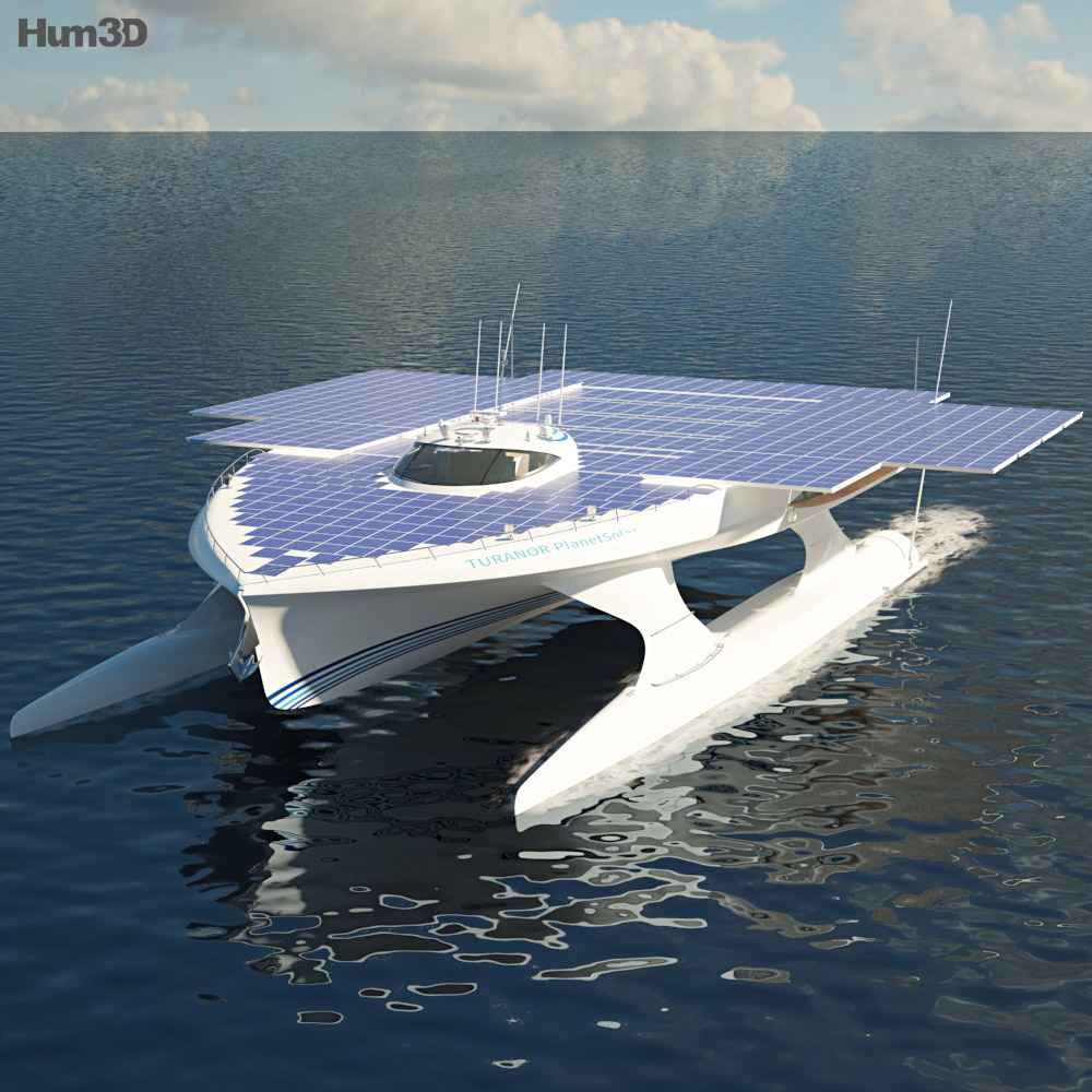 3D model of MS Turanor PlanetSolar
