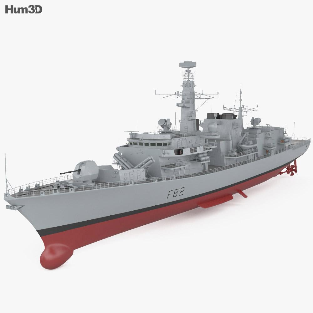 Type 23 frigate 3d model