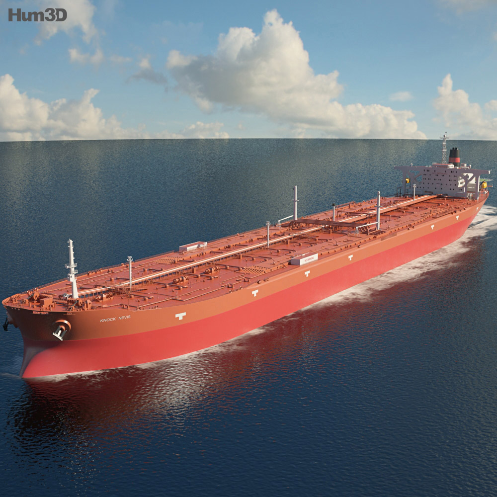 3D model of Knock Nevis ULCC Supertanker