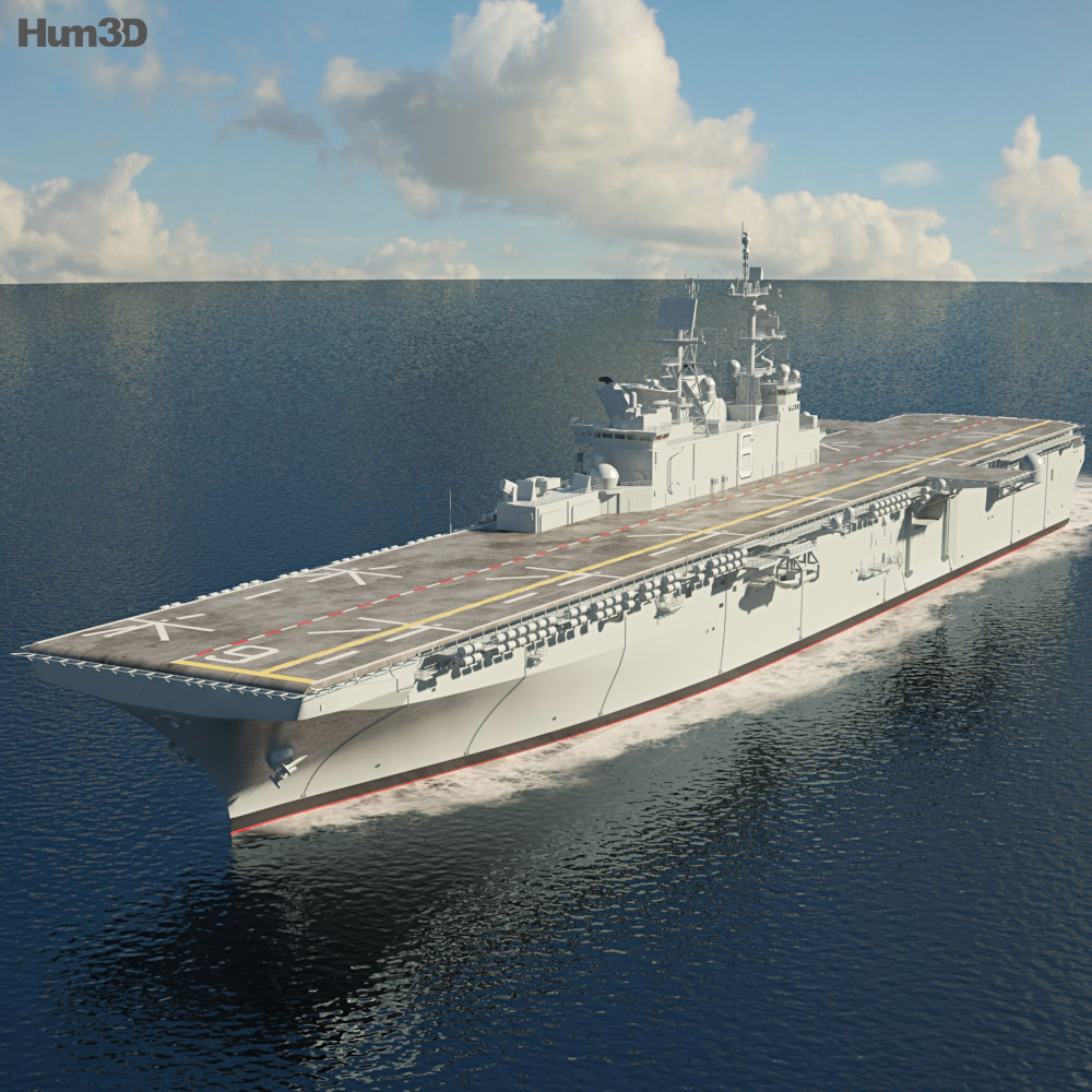 USS America (LHA-6) aircraft carrier 3d model