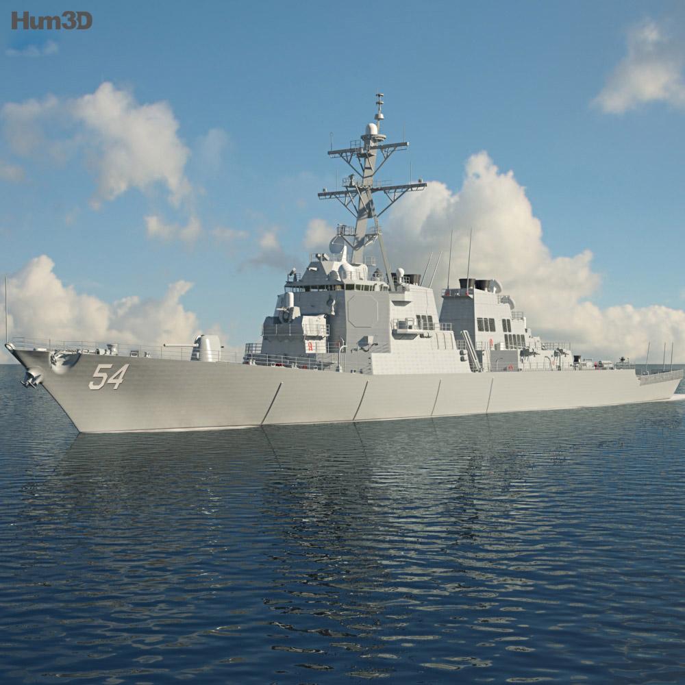 USS Arleigh Burke (DDG-51) 3d model
