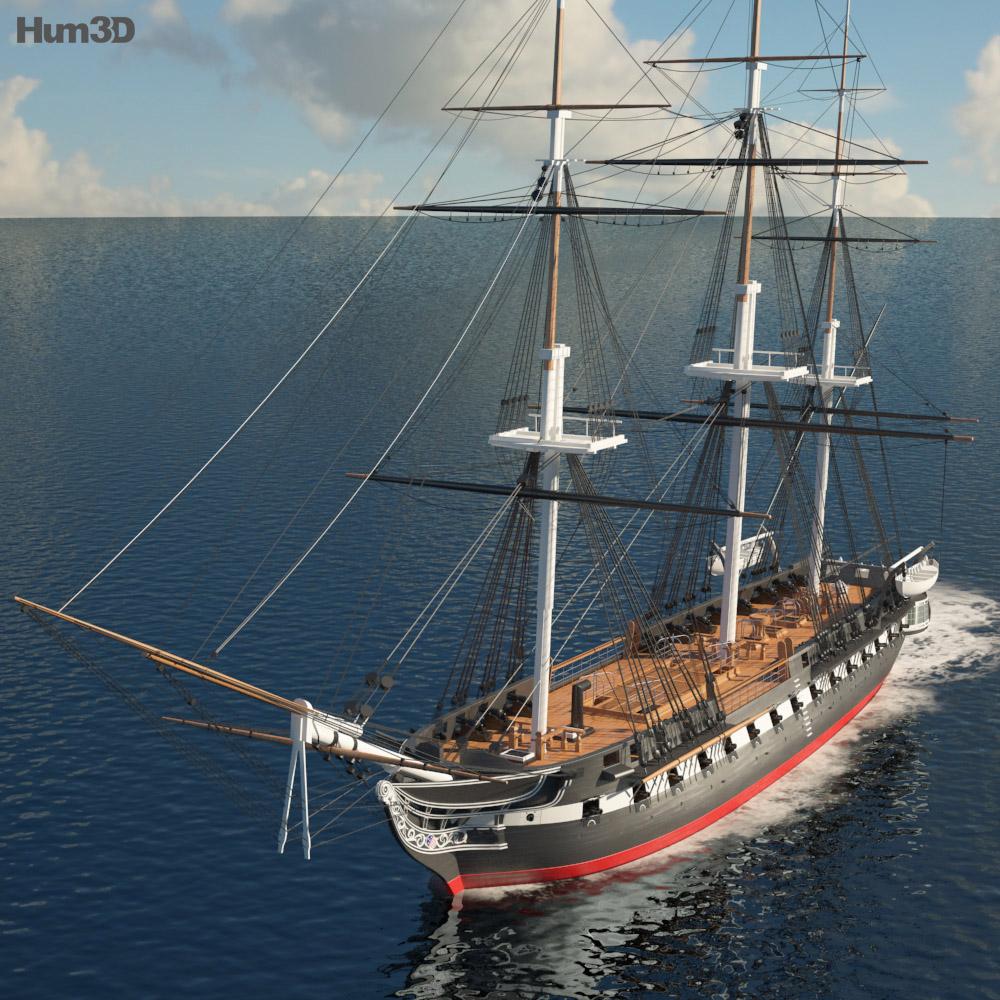 USS Constitution 3d model