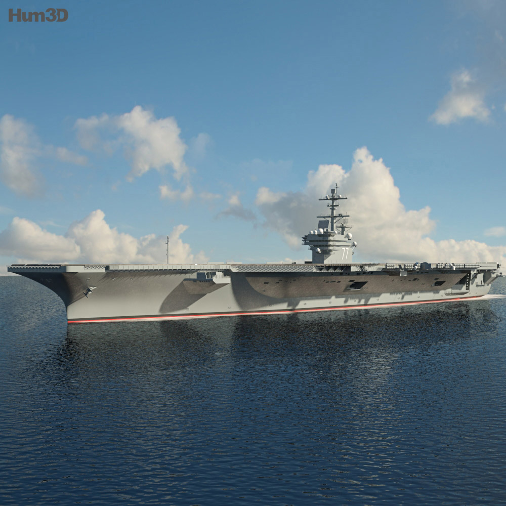 USS George H. W. Bush (CVN-77) 3d model