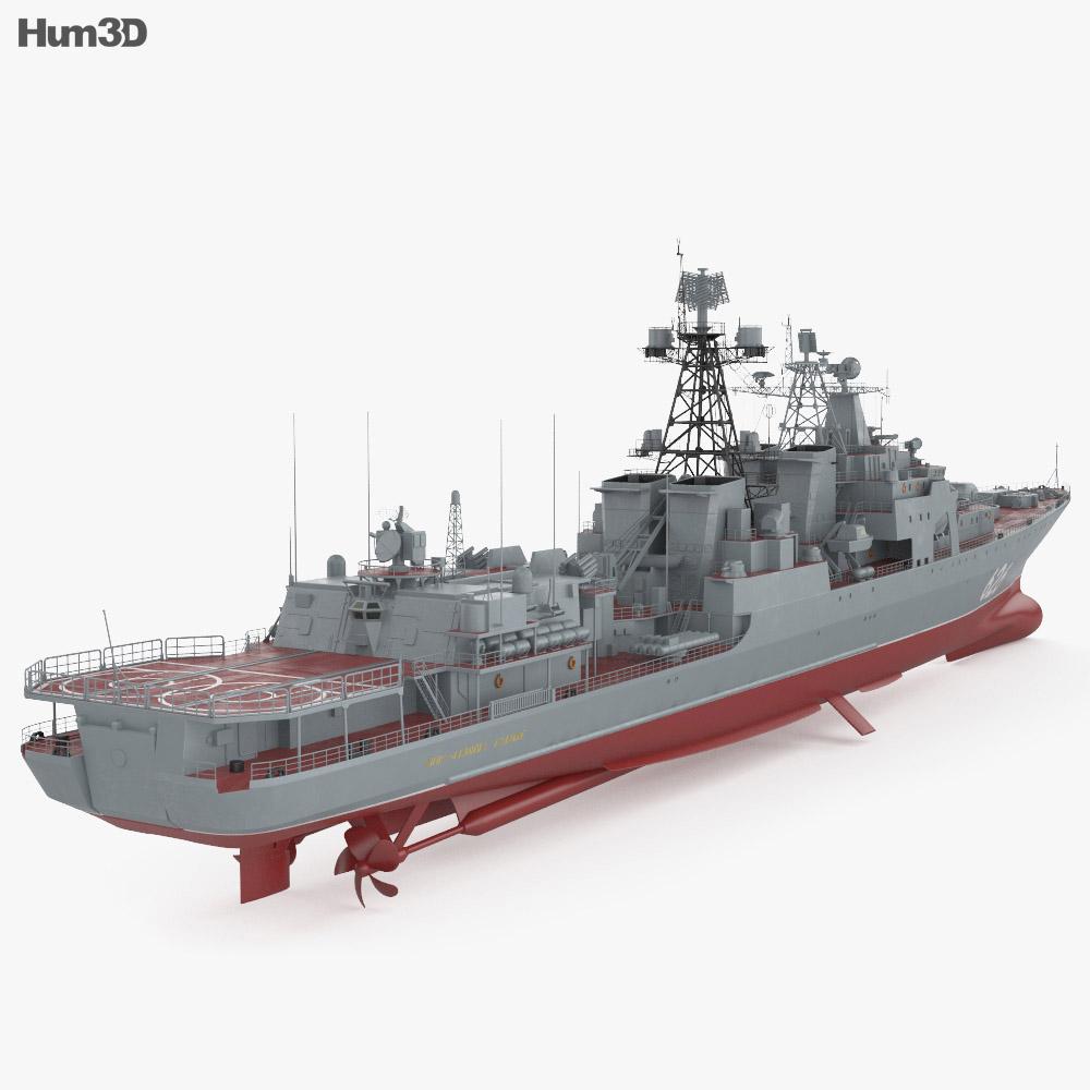 Udaloy-class destroyer 3d model
