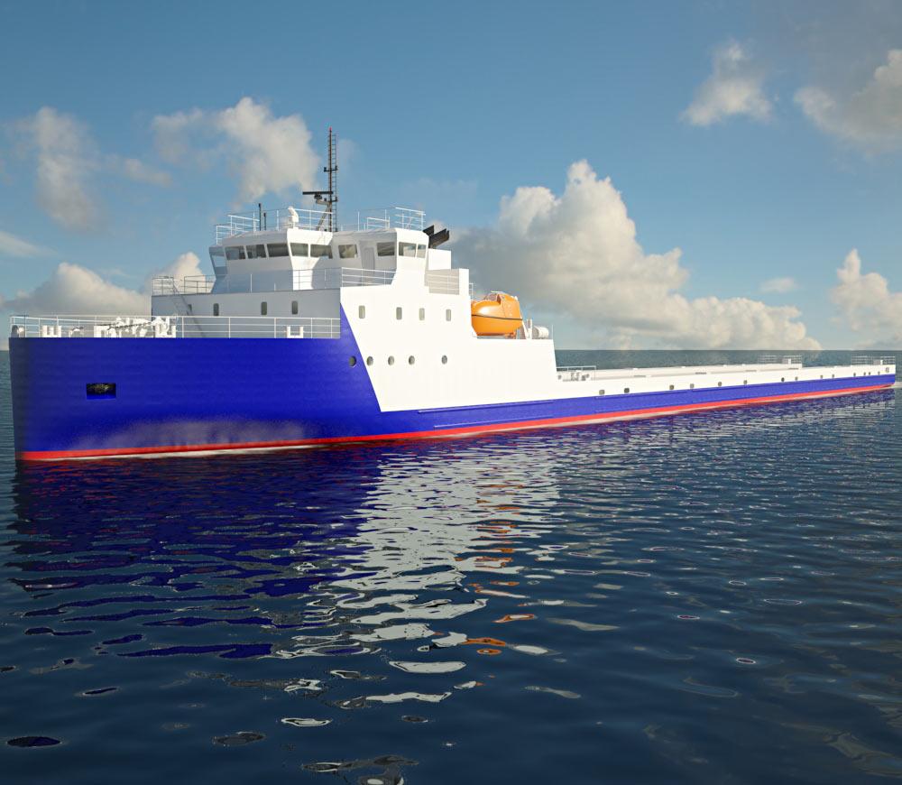 3D model of VARD 9 21 Module Carrier Vessel
