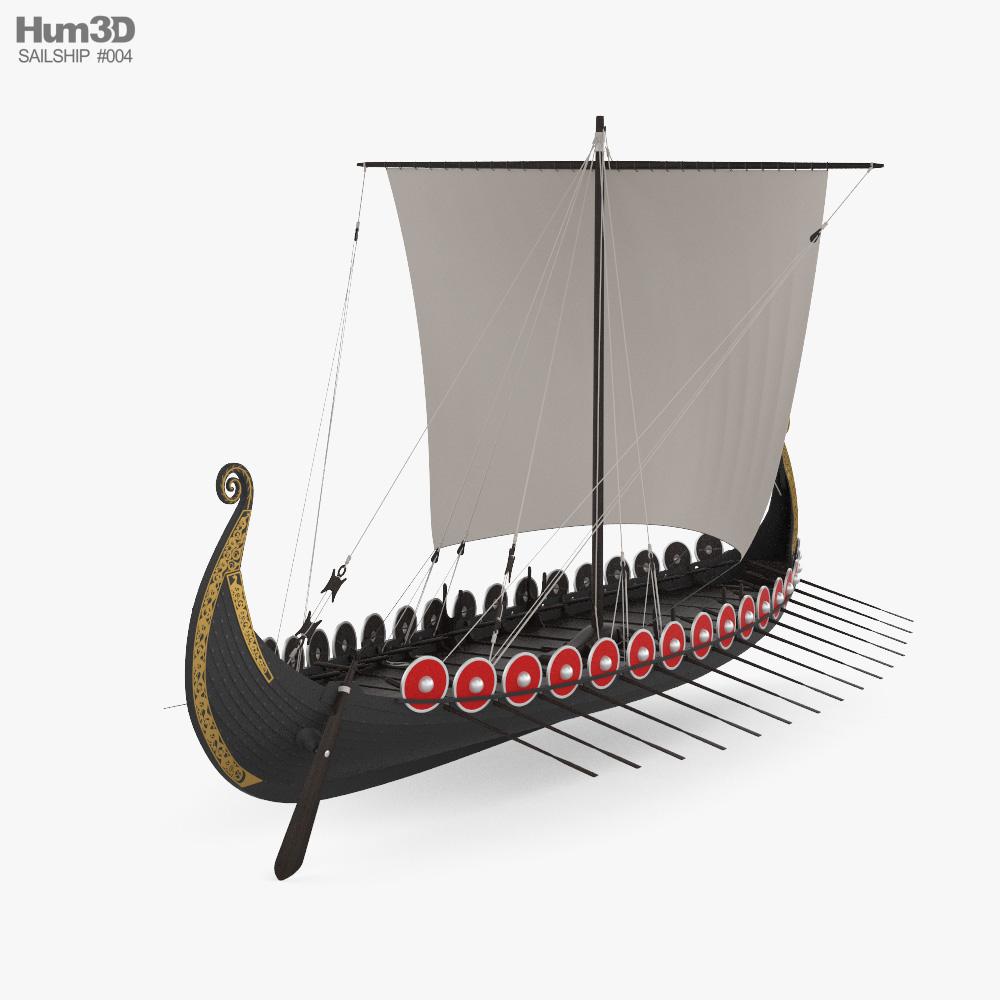 Viking Longship 3d model