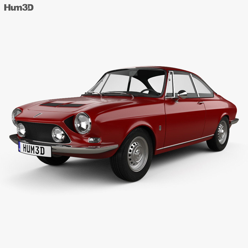 Simca 1200 S coupe 1969 3d model