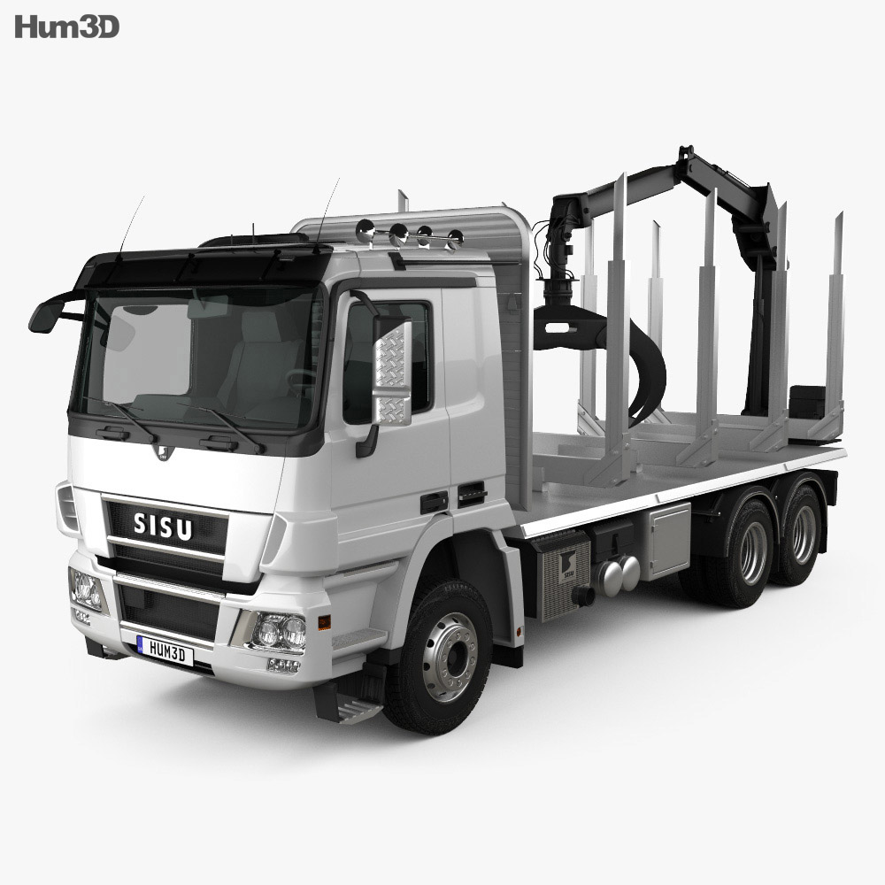 Sisu Polar Logging Truck 2010 3d model