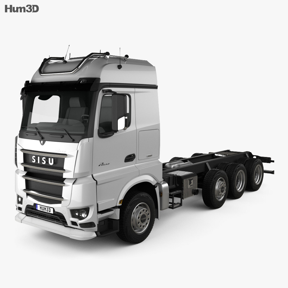 Sisu Polar Chassis Truck 4-axle 2014 3d model