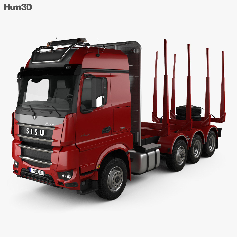 Sisu Polar Timber Truck 2014 3d model
