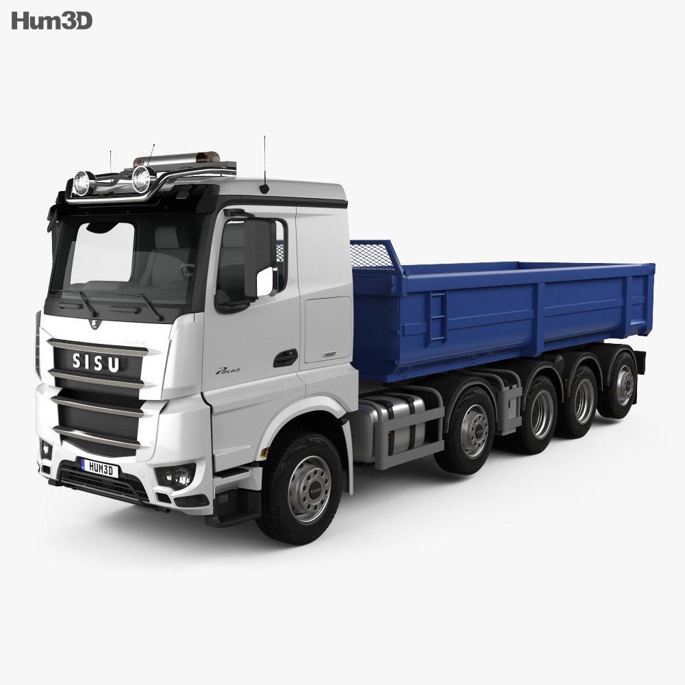 3D model of Sisu Polar Tipper Truck 2014