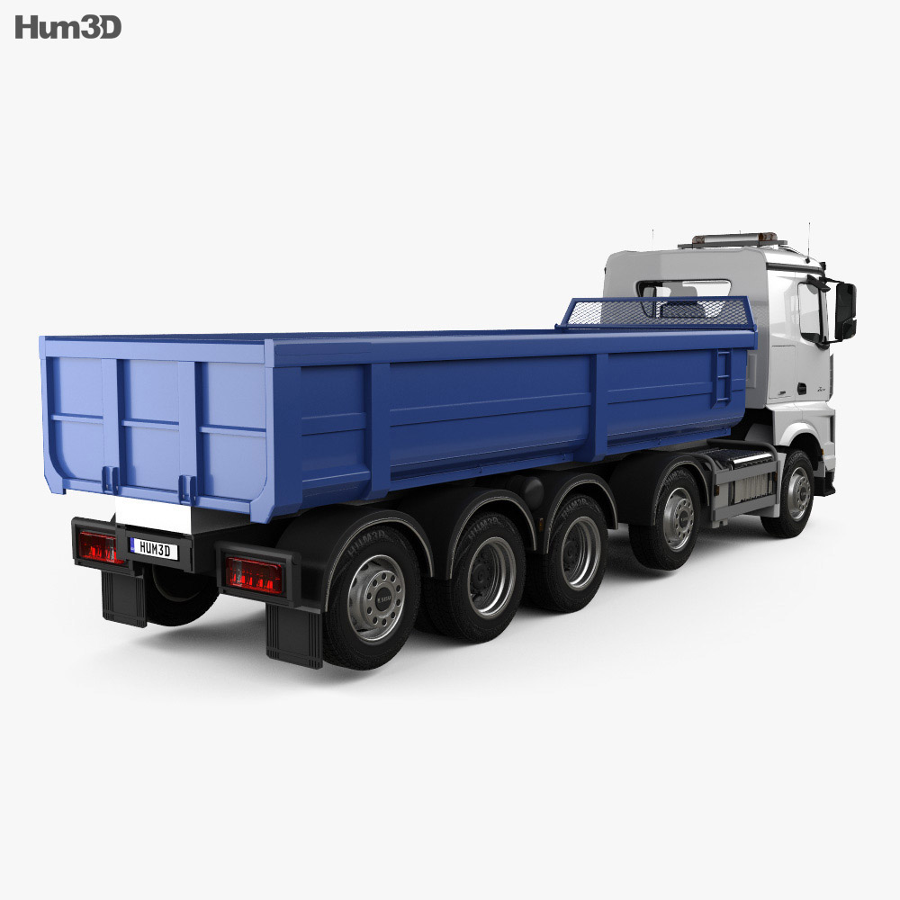 Sisu Polar Tipper Truck 2014 3d model