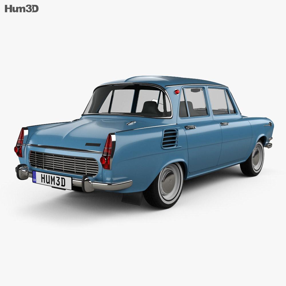 Skoda 1000 MB 1964 3d model