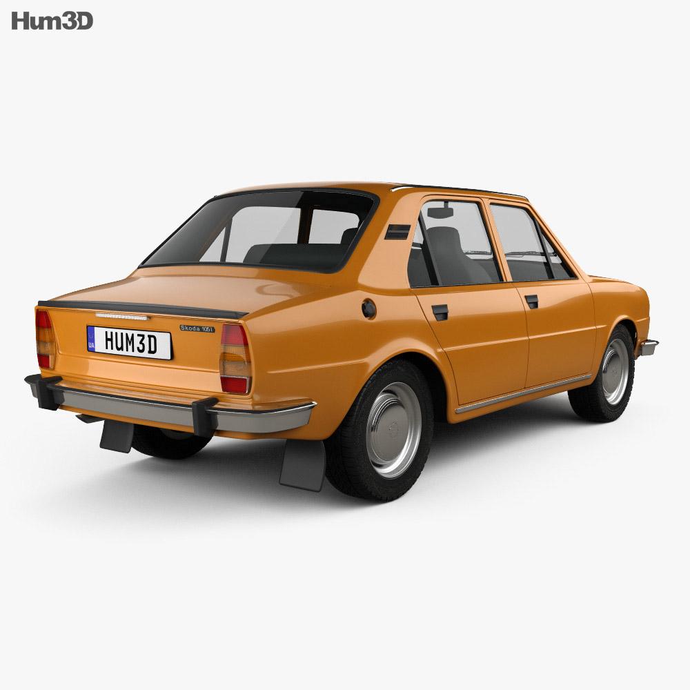 Skoda 105 L 1976 3d model