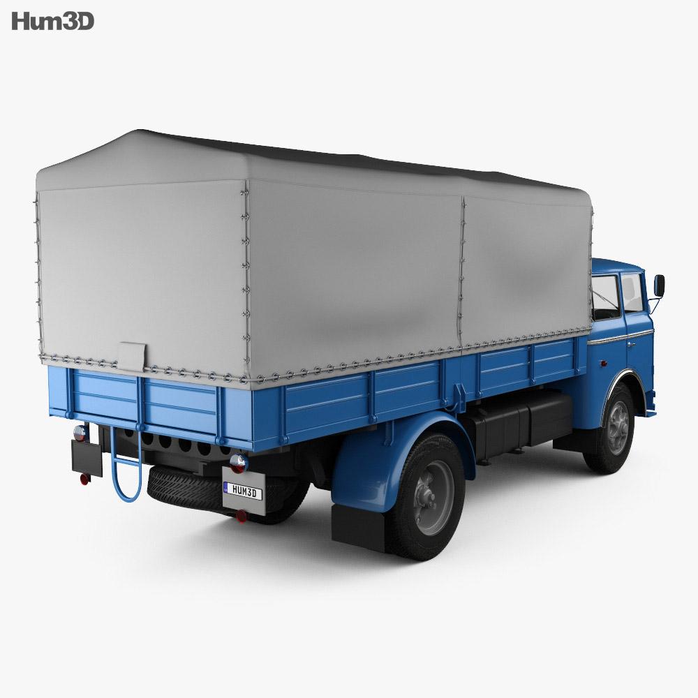 Skoda 706 RT Flatbed Truck 1957 3d model