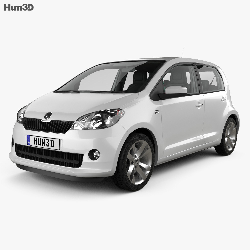 Skoda Citigo 5-door with HQ Interior 2013 3d model