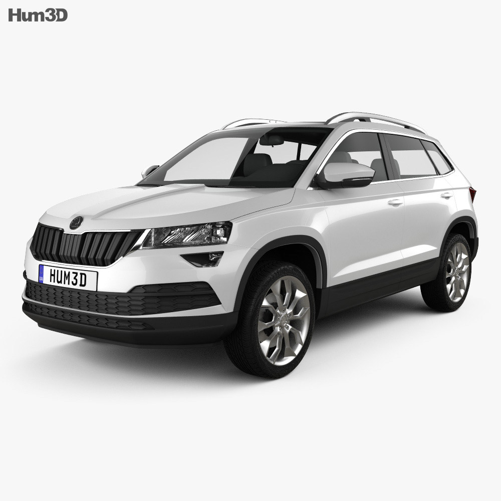 skoda karoq 2018 3d model vehicles on hum3d. Black Bedroom Furniture Sets. Home Design Ideas