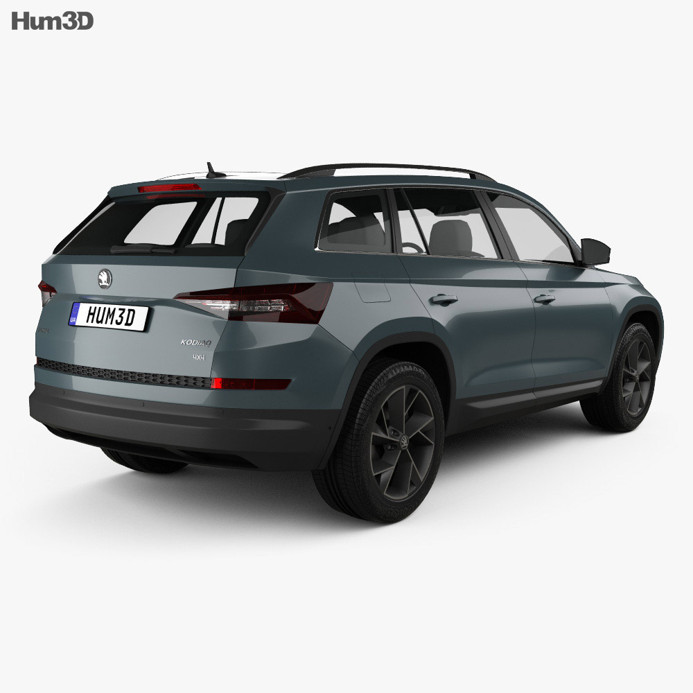 skoda kodiaq 2017 3d model hum3d. Black Bedroom Furniture Sets. Home Design Ideas