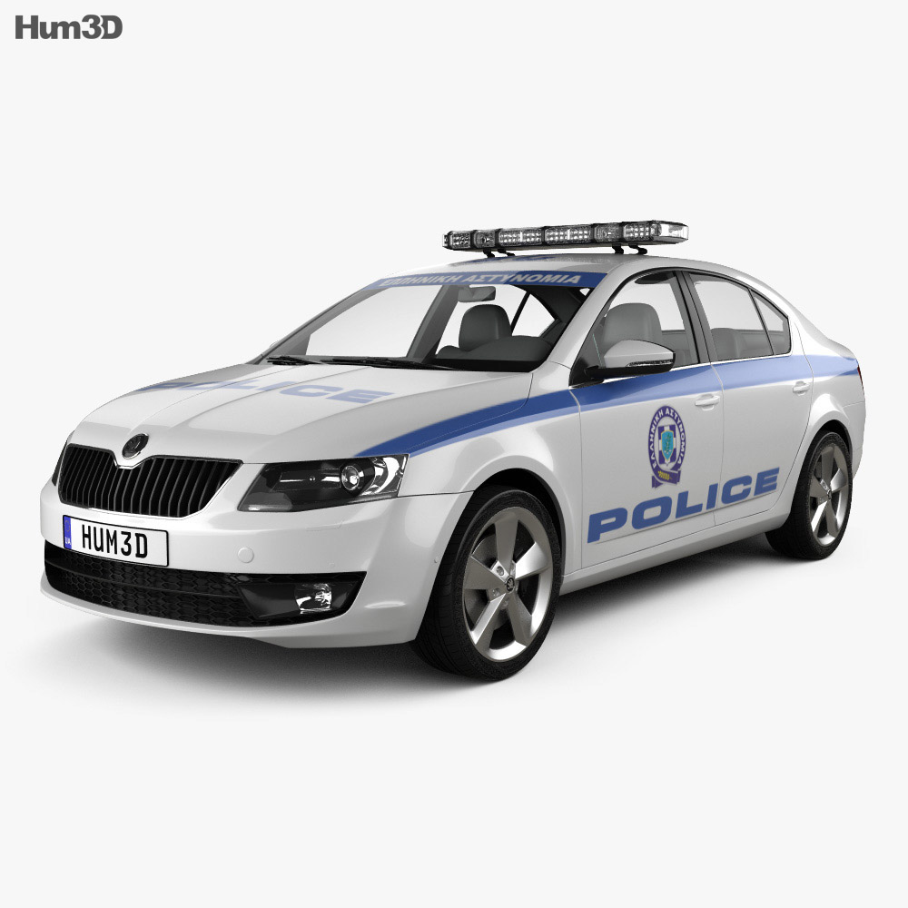 Skoda Octavia Police Greece liftback 2013 3d model