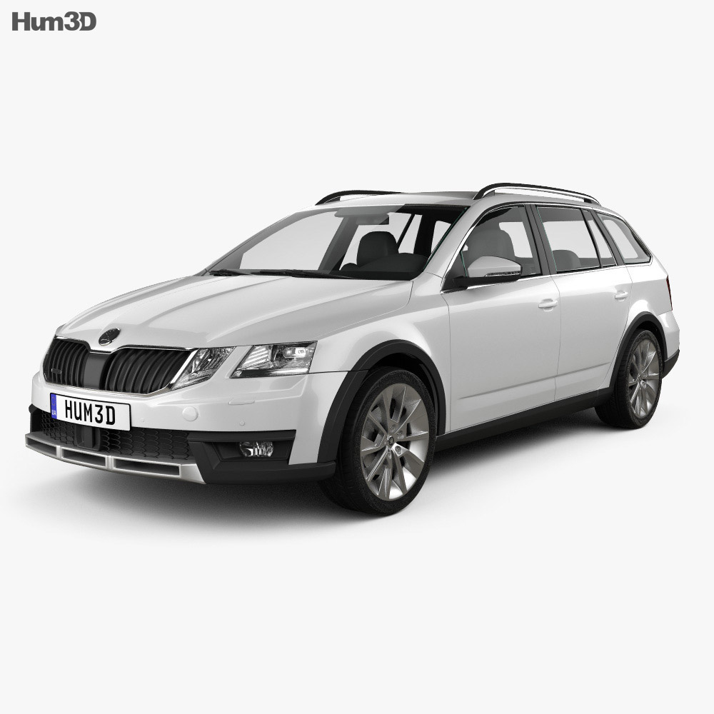 skoda octavia scout 2017 3d model vehicles on hum3d. Black Bedroom Furniture Sets. Home Design Ideas