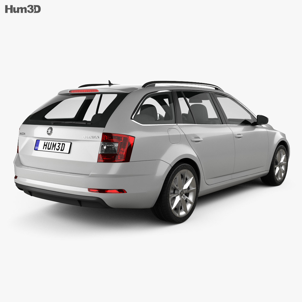 skoda octavia combi 2017 3d model hum3d. Black Bedroom Furniture Sets. Home Design Ideas