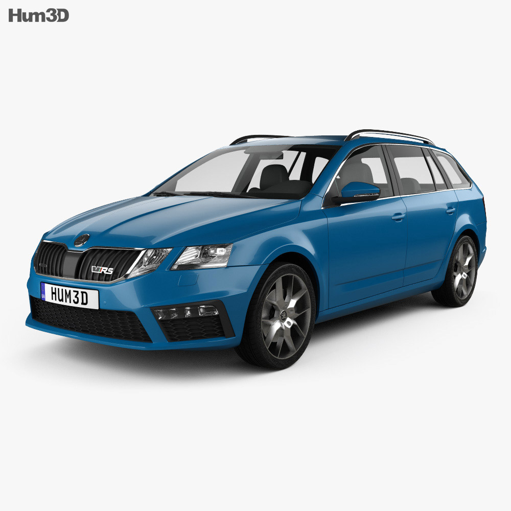 skoda octavia rs combi 2017 3d model hum3d. Black Bedroom Furniture Sets. Home Design Ideas