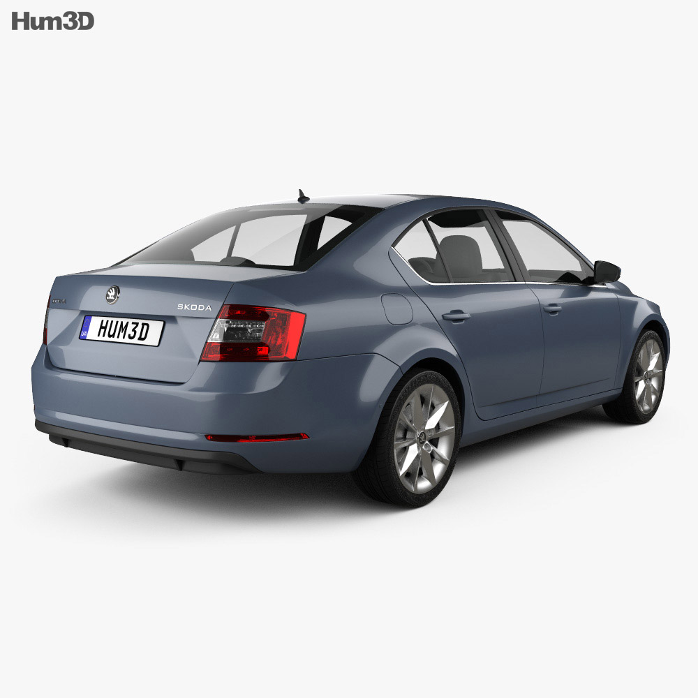 Skoda Octavia liftback 2017 3d model