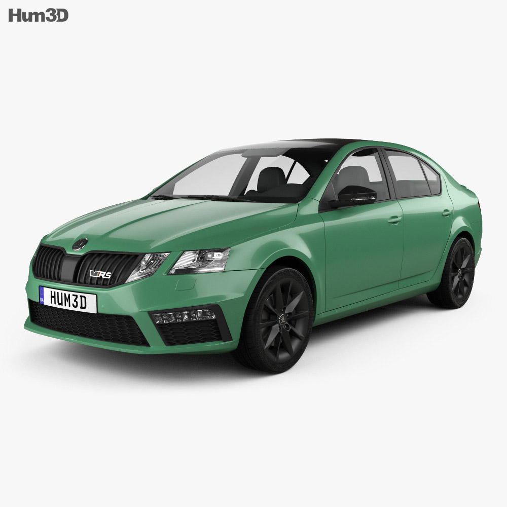 Skoda Octavia RS liftback 2017 3d model