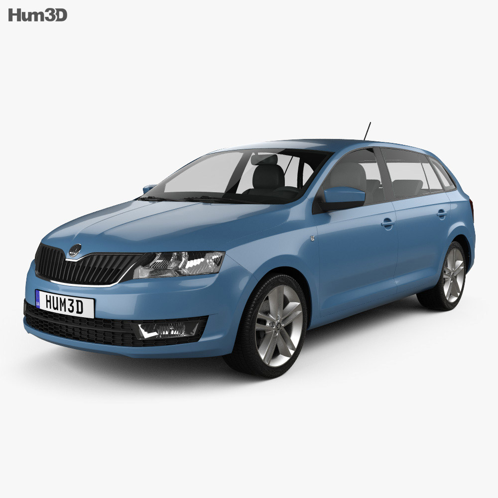 Skoda Rapid Spaceback 2014 3d model