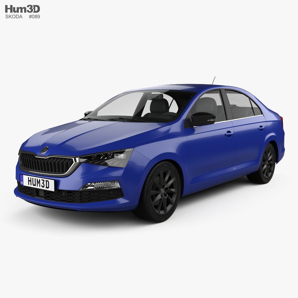 Skoda Rapid CIS-spec 2020 3d model