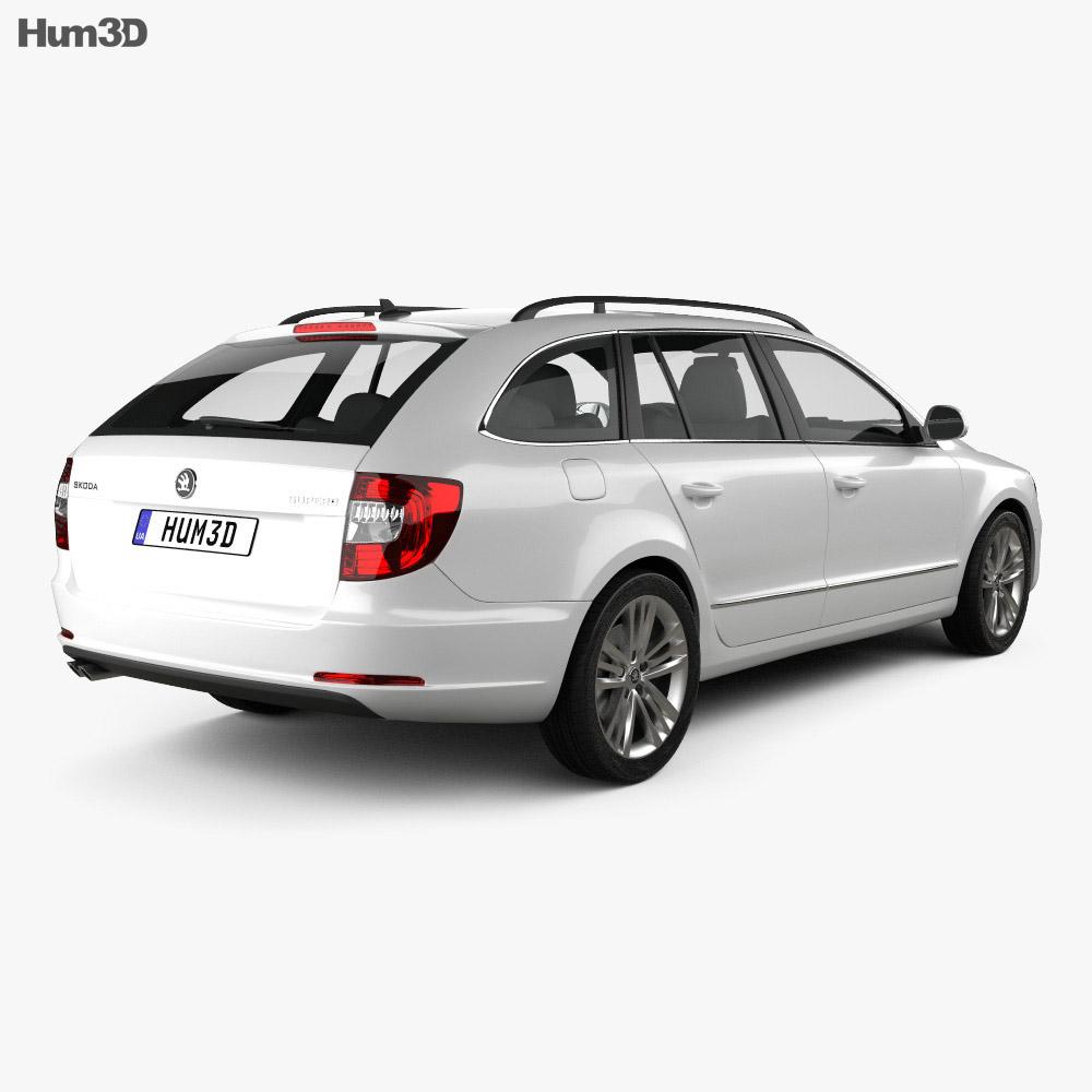 Skoda Superb Combi 2014 3d model
