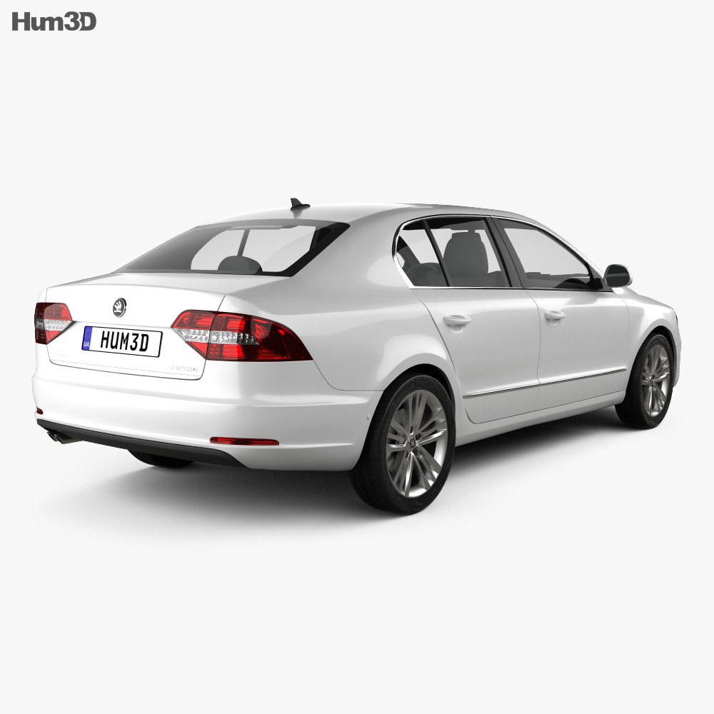 Skoda Superb 2014 3d model