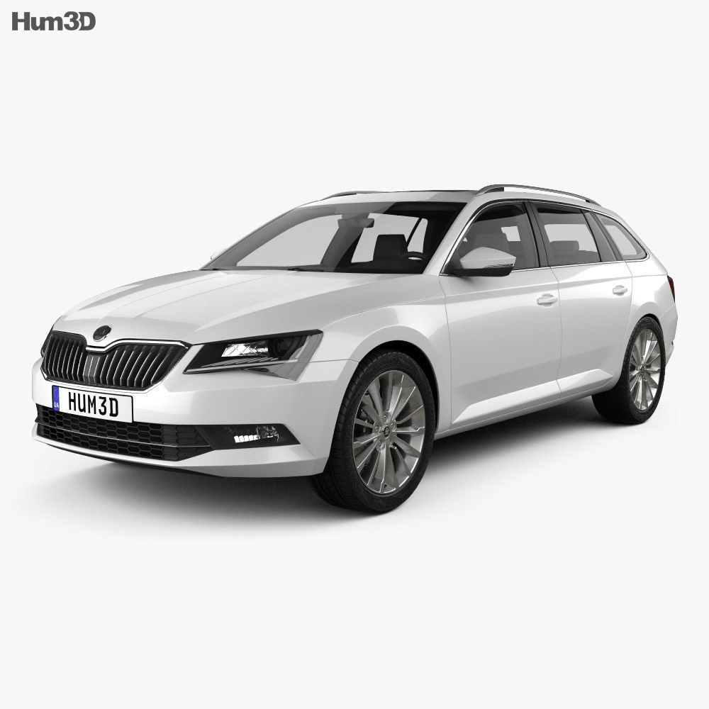 skoda superb combi 2016 3d model hum3d. Black Bedroom Furniture Sets. Home Design Ideas