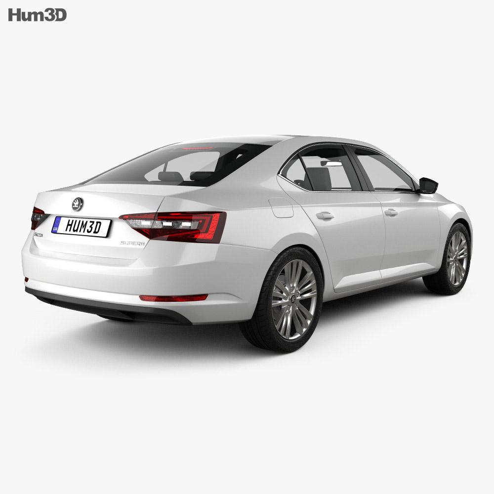 Skoda Superb liftback 2016 3d model