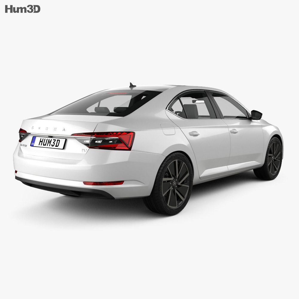 Skoda Superb iV liftback 2020 3d model back view