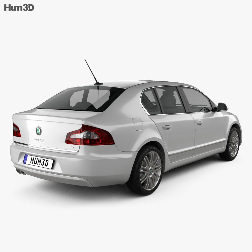 Skoda Superb Sedan 2011 3d model