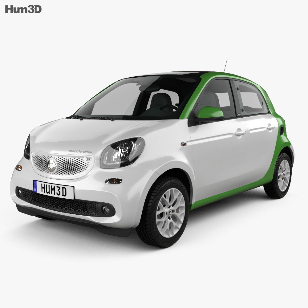 Smart ForFour Electric Drive 2017 3d model