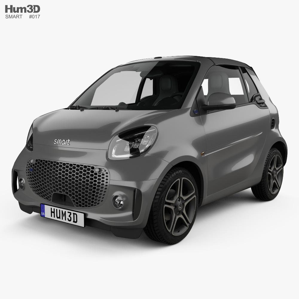 Smart ForTwo EQ Pulse cabriolet 2020 3d model