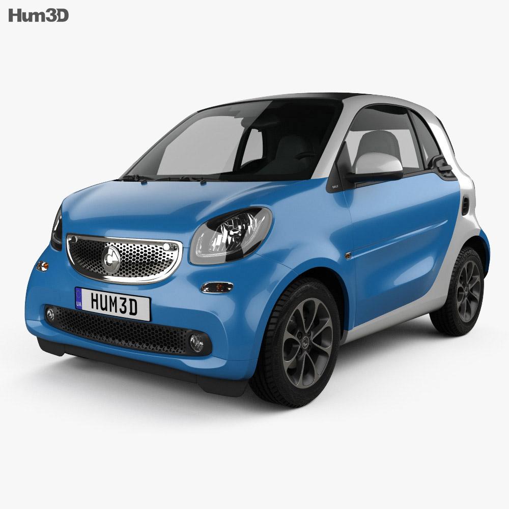 Smart Fortwo 2014 3d model