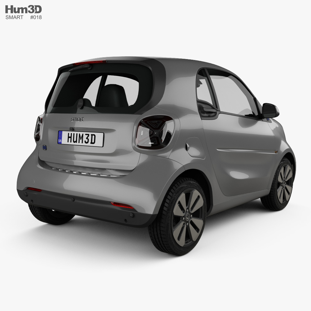 Smart ForTwo EQ Prime coupe 2020 3d model