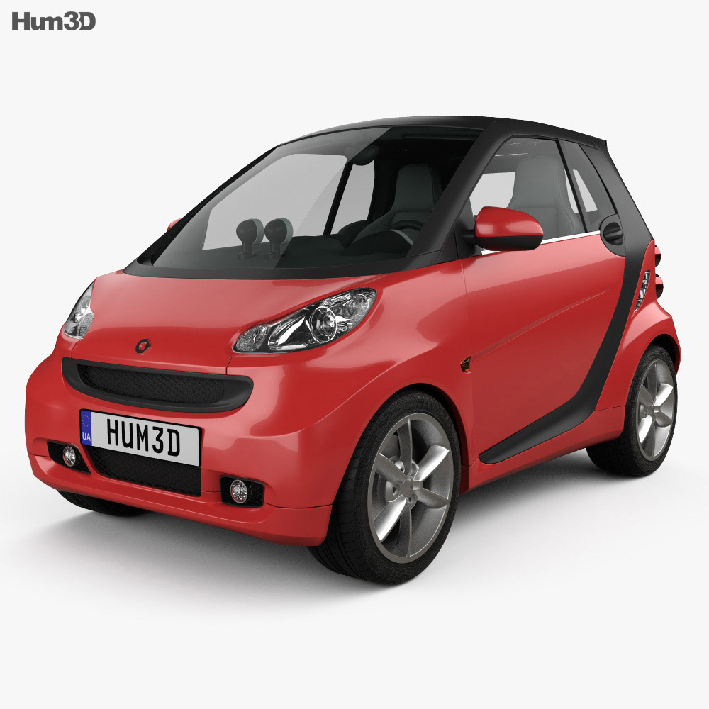 Smart Fortwo 2011 Convertible Hard Top 3d model