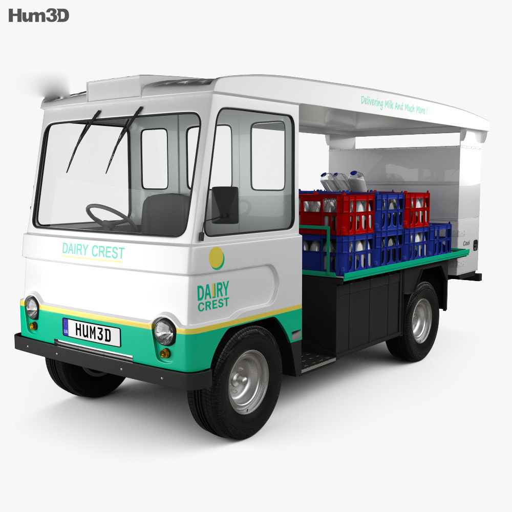 3D model of Smith Cabac Milk Float Truck 1972