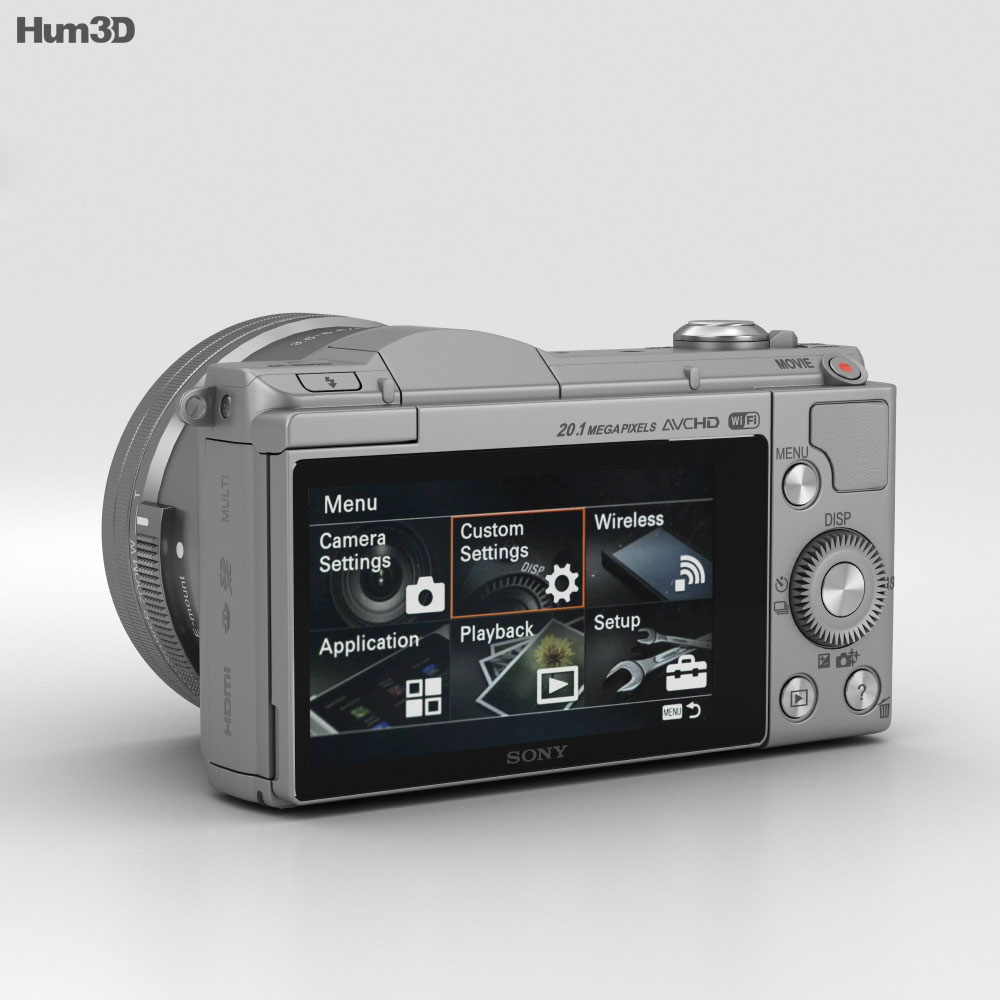Sony Alpha A5000 Silver 3d model