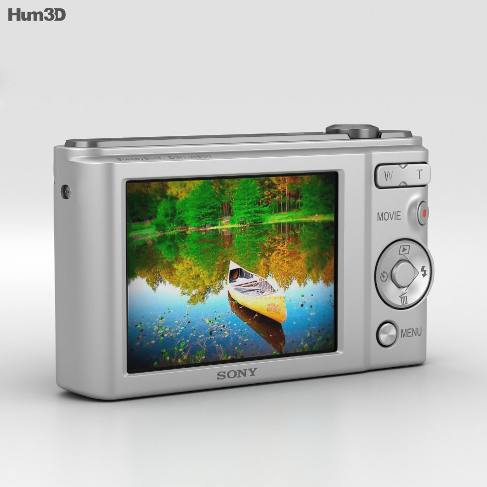 Sony Cyber-Shot DSC-W800 Silver 3d model