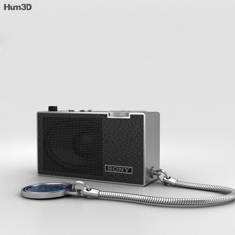 Sony ICR-100 Radio 3d model