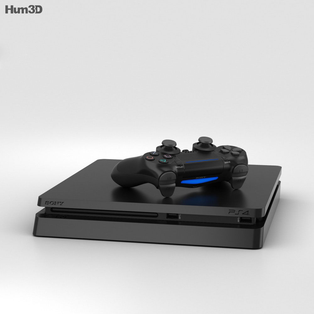 Sony PlayStation 4 Slim 3d model