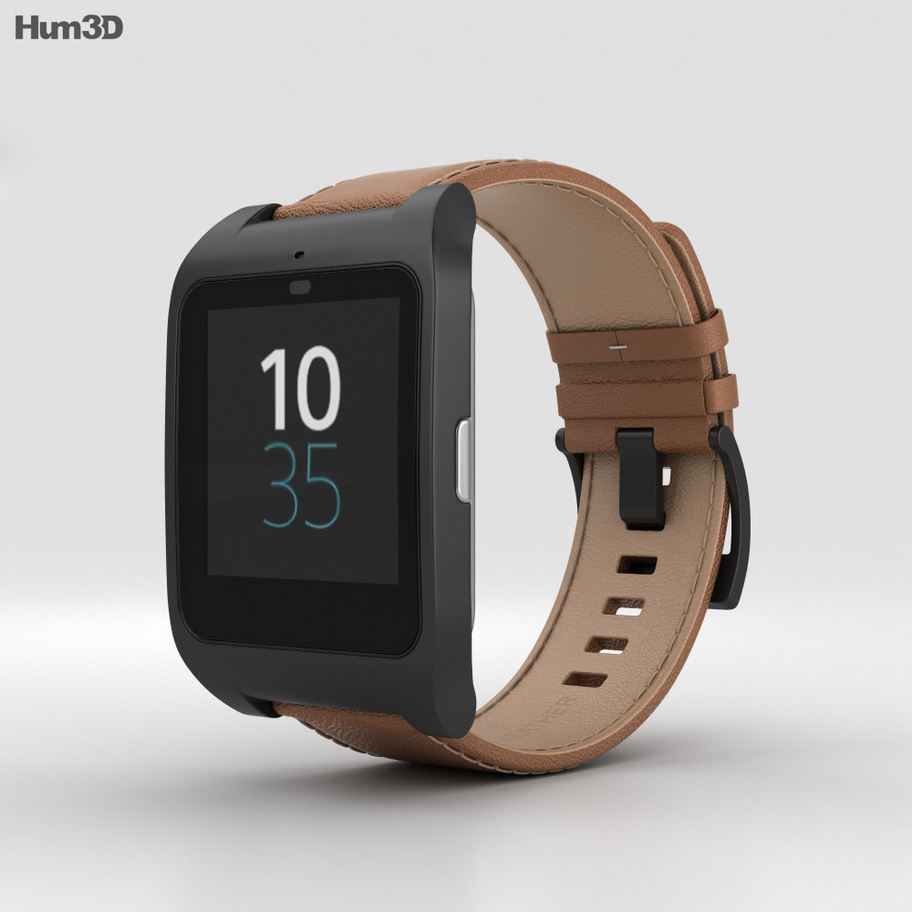 Sony SmartWatch 3 SWR50 Leather Brown 3d model