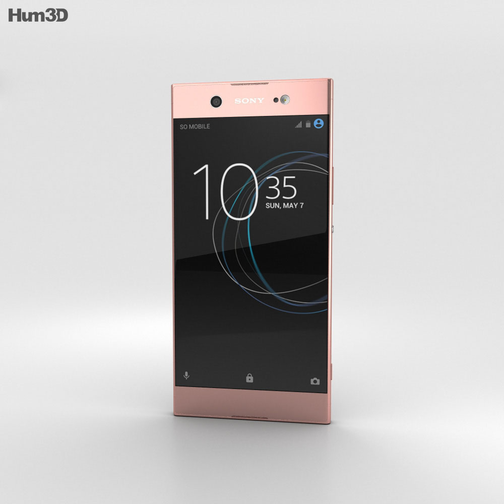 Sony Xperia XA1 Ultra Pink 3d model