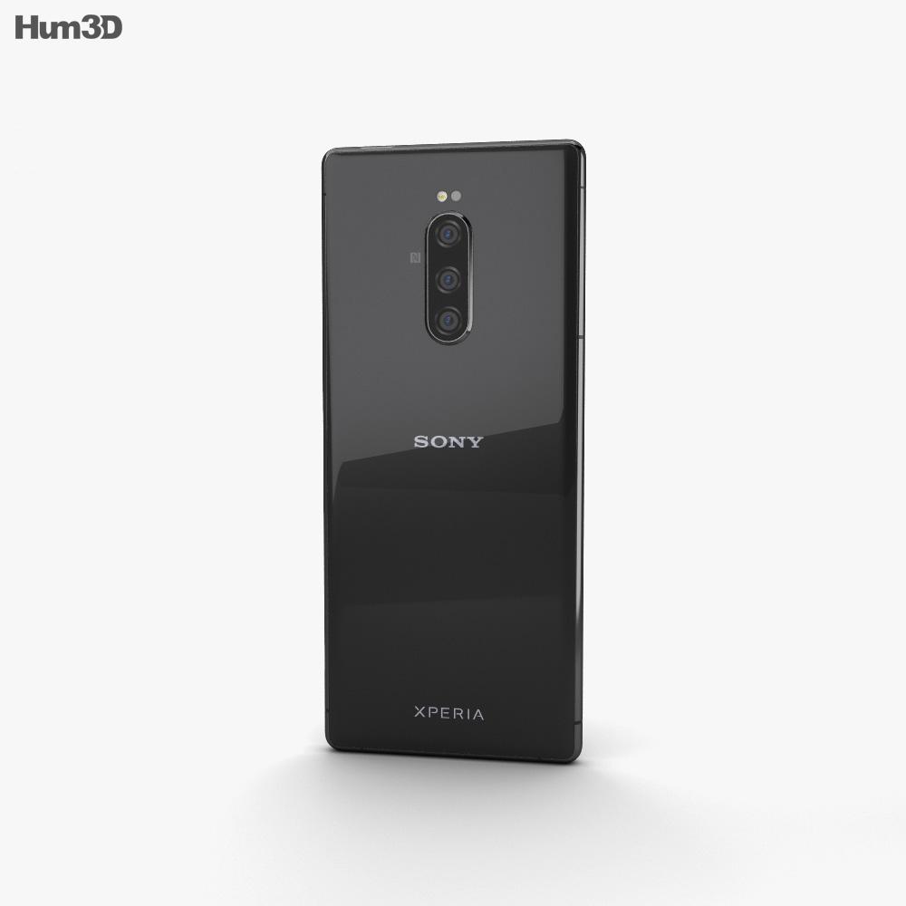 Sony Xperia 1 Black 3d model