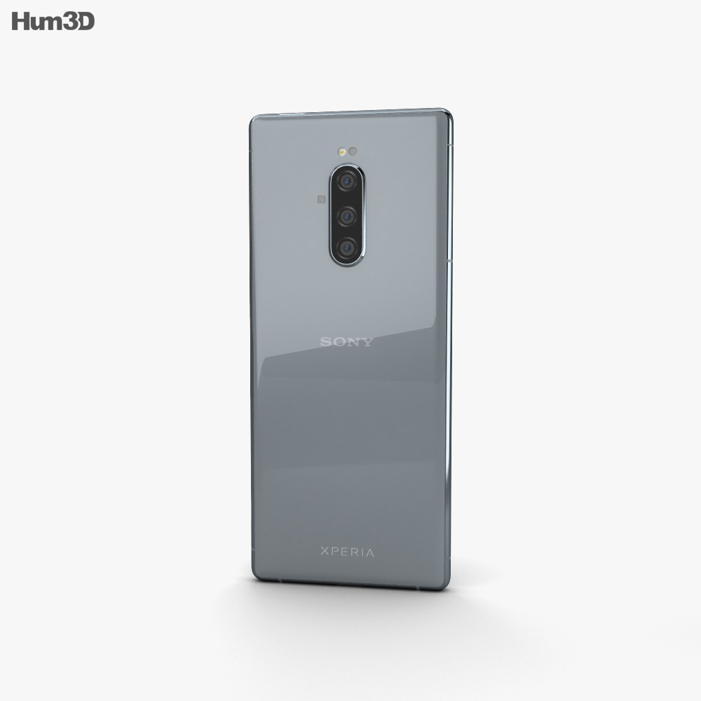 Sony Xperia 1 Gray 3d model